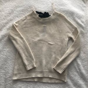 Forever 21 Bow Tie Back Knit Sweater - Size Small